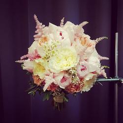 Nuotakos puokštė - pastelinės rožės