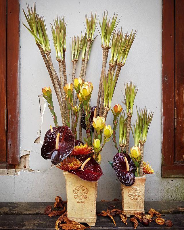 Rudeniška gėlių kompozicija