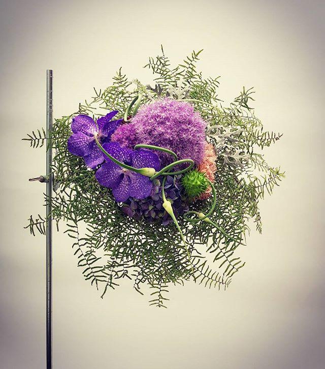 Nuotakos puokštė-purpurinės orchidėj