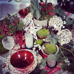 Kalėdinis stalo dekoras