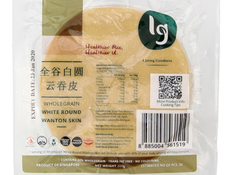 Wholegrain White Round Wanton Skin 全谷白圆云吞皮