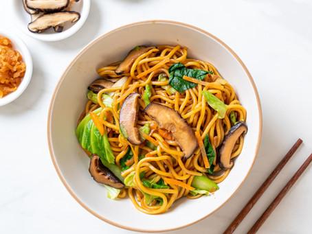 Vegetarian Chow Mein (Stir-fried Noodles)