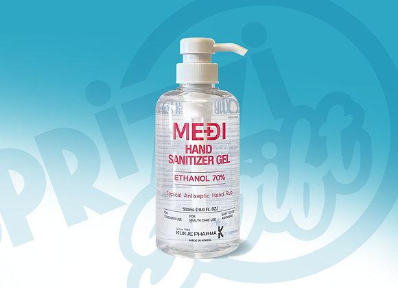 Medi Hand Sanitizer (500ML) with Pump Top (70% Ethanol)