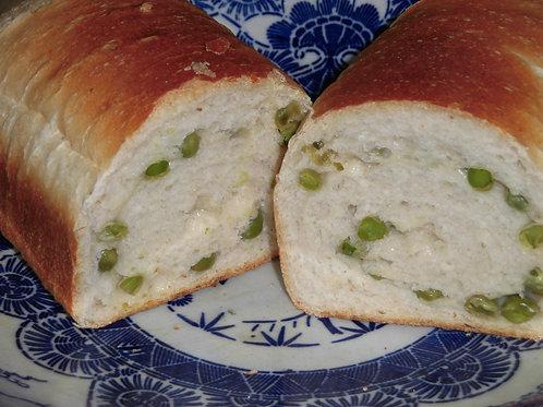 グリーンピース食パン
