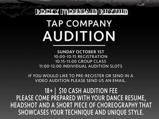 Rocky Mountain Rhythm Auditions are coming up!