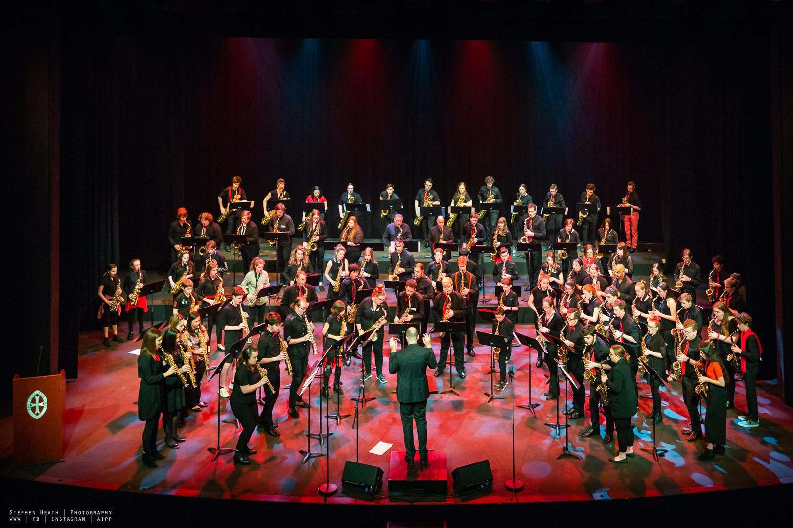 Massed Sax Orchestra