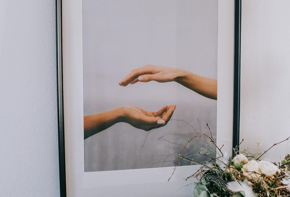 "Poster ""Peaceful Hands"""