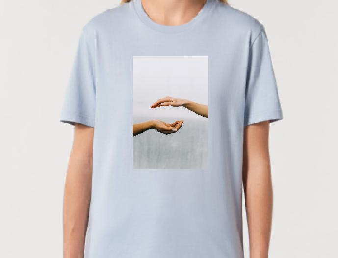 Blue Hands – hellblaues Unisex T-Shirt