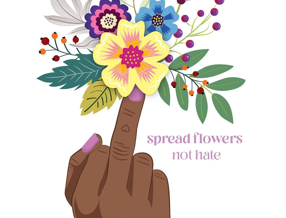 """Poster """"Spread Flowers"""""""