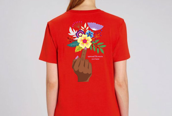 Spread Flowers – rotes Unisex T-Shirt