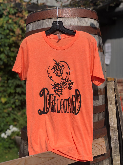Orange Unisex Defloured Shirt