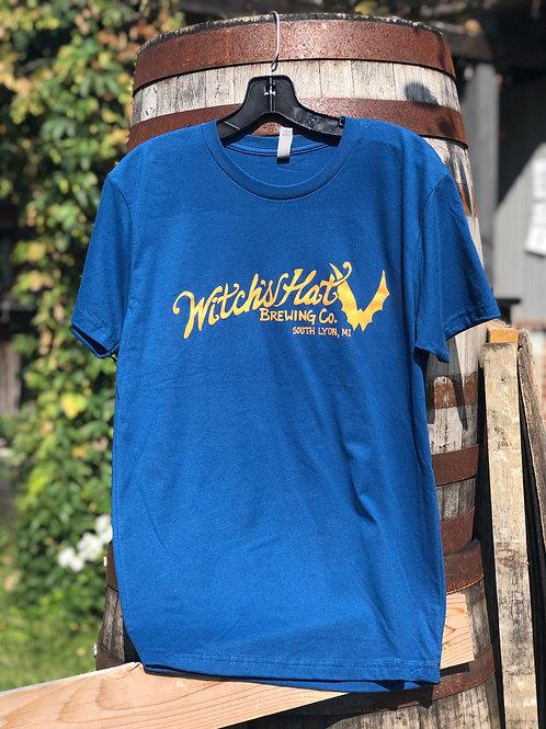 Blue Unisex Witch's Hat T-Shirt