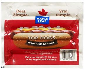 Maple Leaf. Top Dogs, Original BBQ Size.