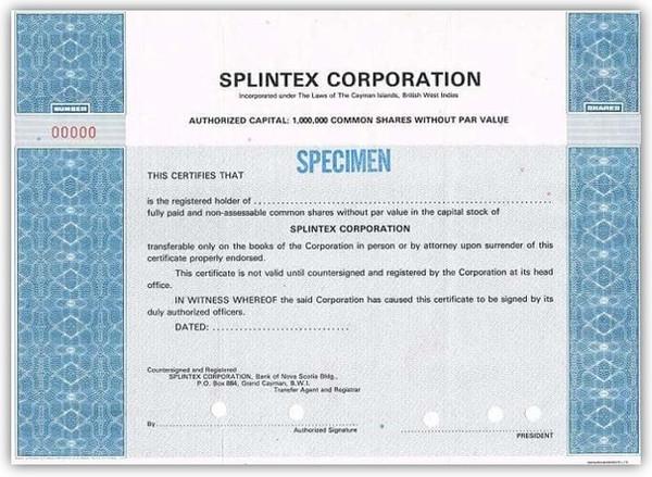Splintex Corporation USPTO Patent Approv