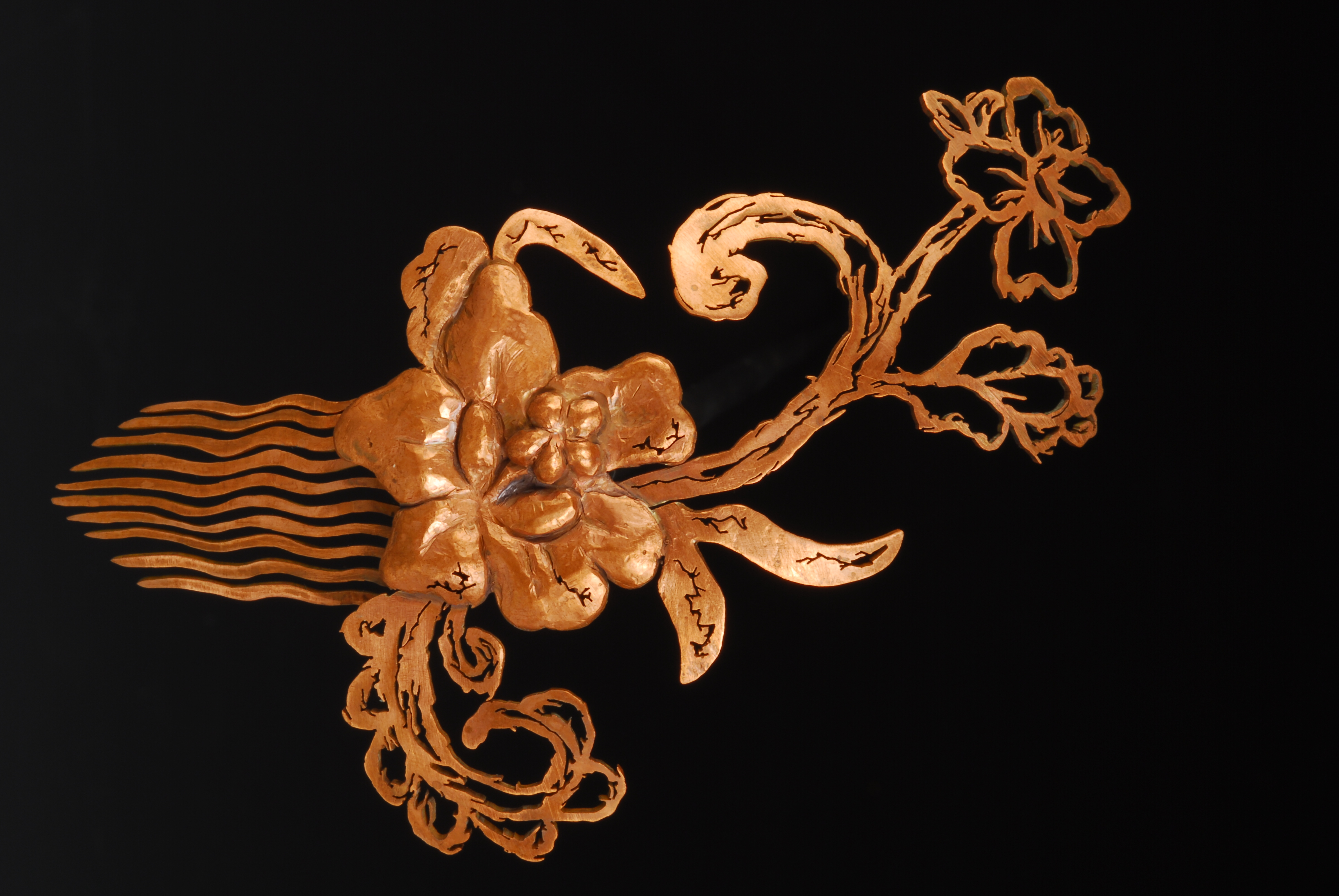 Sketched Lace Hair Comb I (2013)