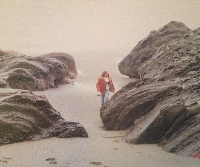 Among the rocks in progress
