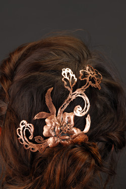Sketched Lace Hair Comb II (2013)