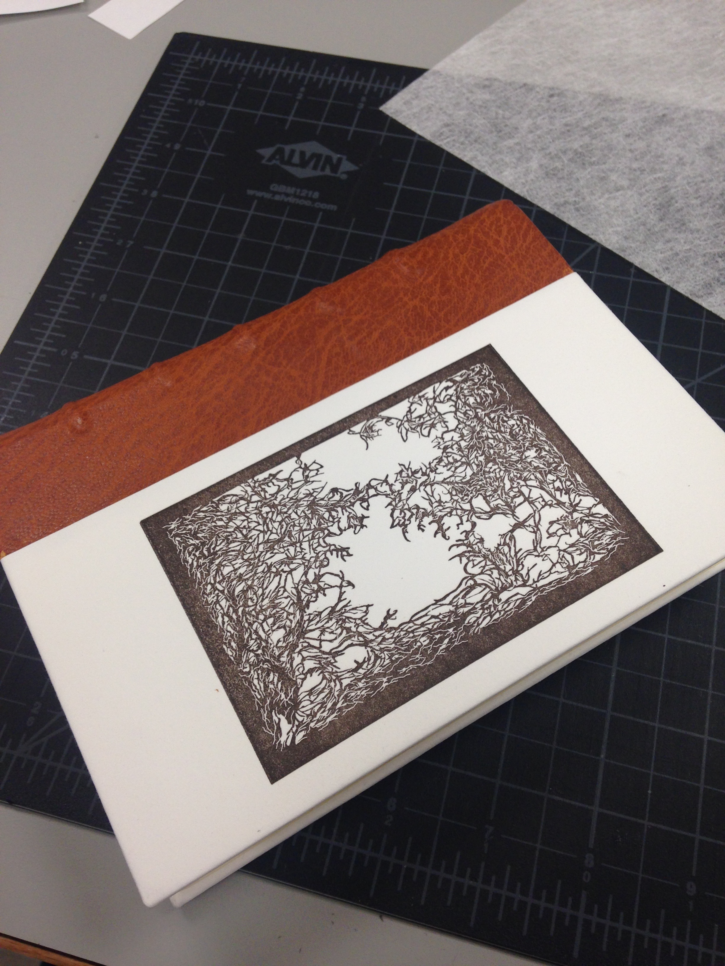Quarter-Leather: Relief-Print Cover