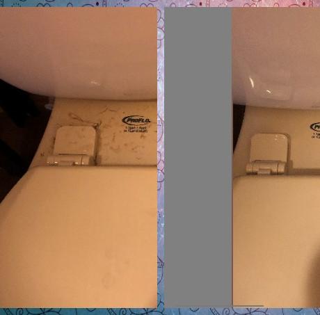 before/after restroom
