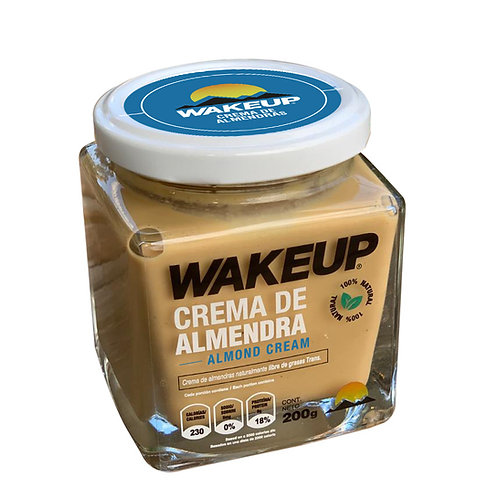 WAKEUP CREMA DE ALMENDRAS
