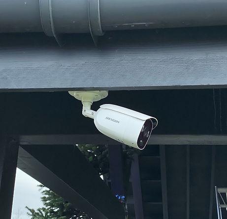 CCTV Camera Protecting a Home