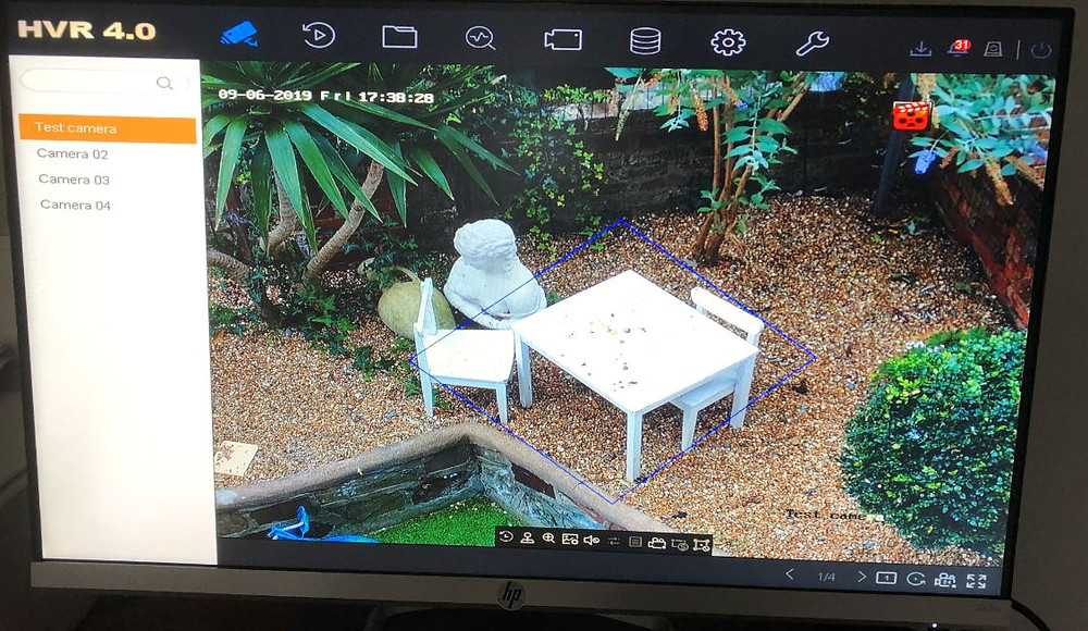 CCTV Motion Detection Screen