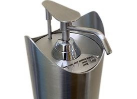 Free Standing Pedal Activated S/S Hand Sanitiser Dispenser
