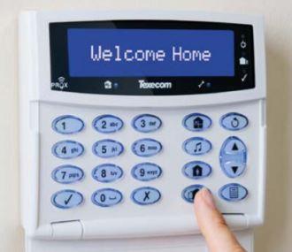Smart burglar alarm keypad