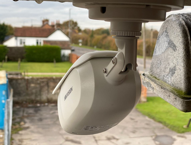 CCTV Camera Protecting a House