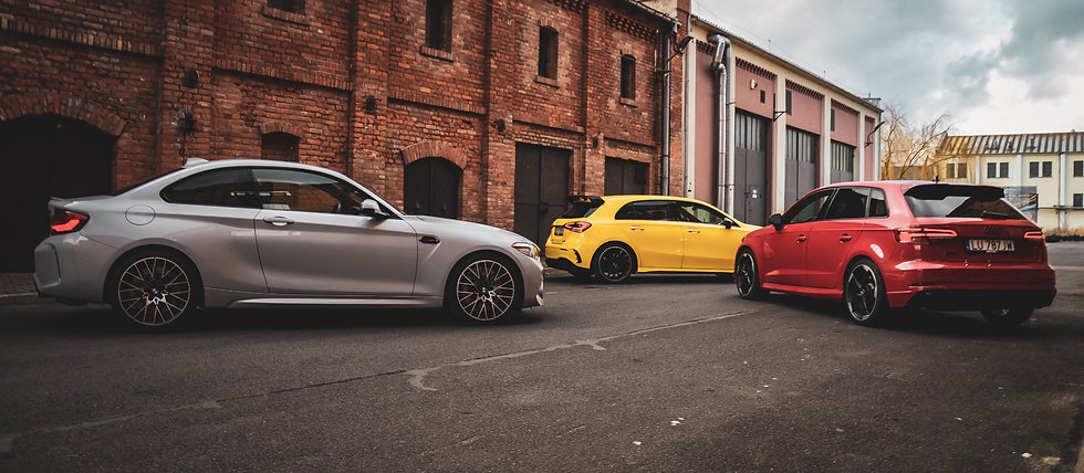 BMW M2 Competition, Mercedes AMG A35, Audi RS6