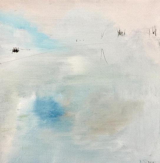 Reflection in Loch Damph, Winter. Oil on canvas.