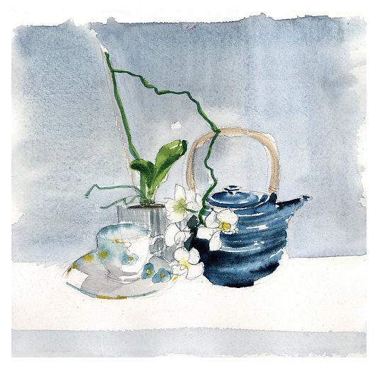 Japanese tea with Susan's teapot.