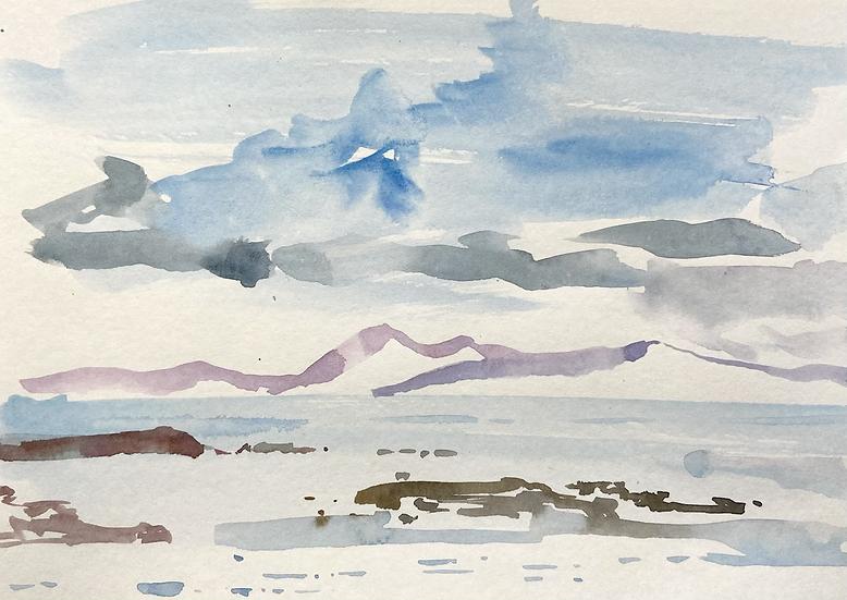 Looking across to the Isle of Skye