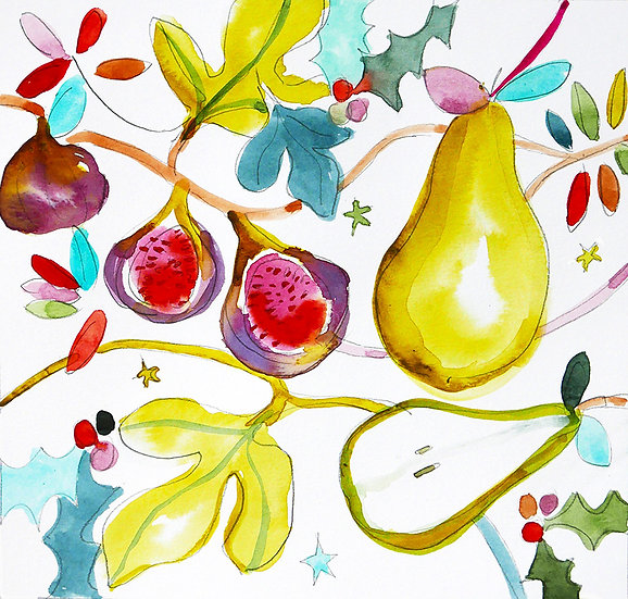 Figs and a pear
