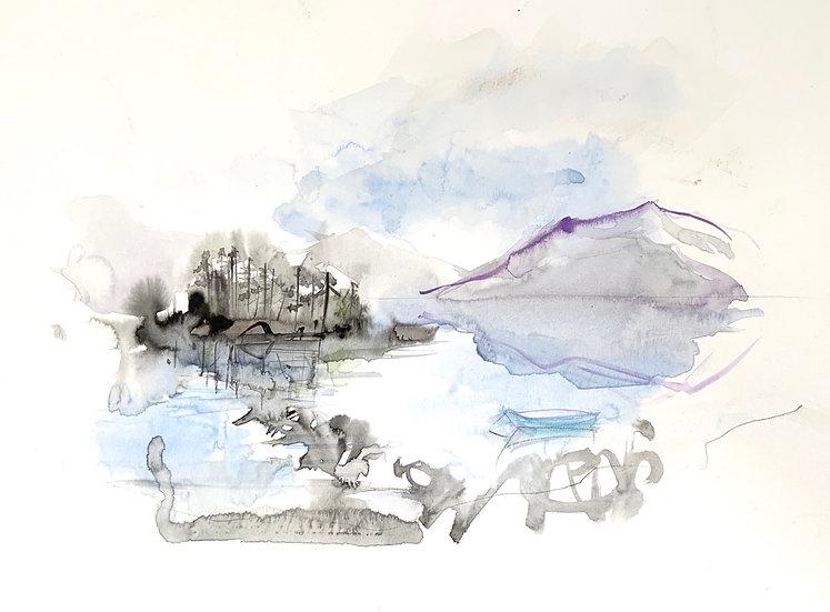 Eilean Chasgaigh and Boat
