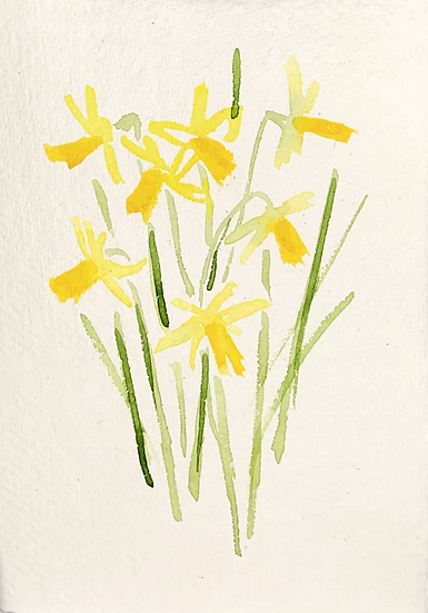 Hand painted 'Spring' card