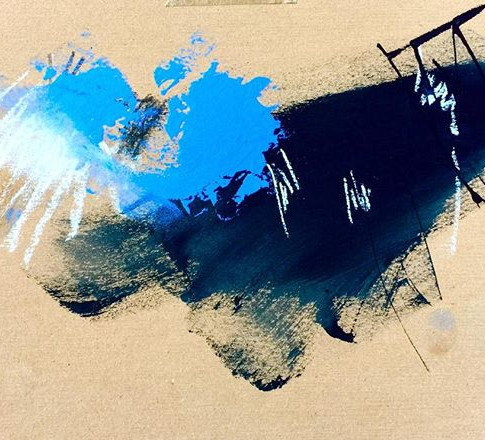 Sent away.jpg Acrylic Pastel Ink on cardboard.jpg