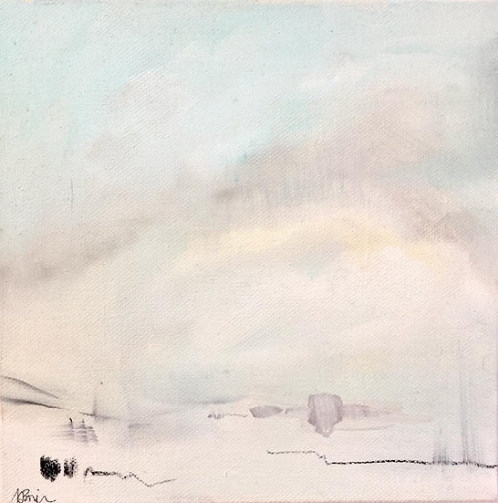 Winter, from near Aird Cottage, Balgy. Oil on canvas.
