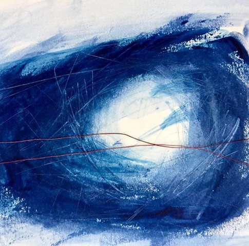Abstract. And here is the loss. Acrylic bookbindersthread pigment.jpg