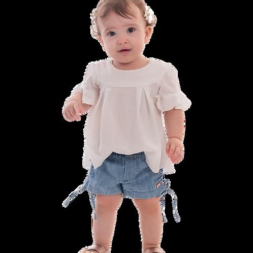 Shorts Jeans Amarração Lateral