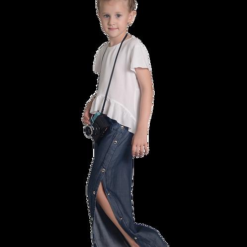 Calça Jeans Tracker Botões Laterais