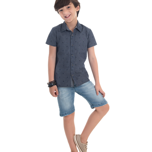 Camisa jeans Âncora