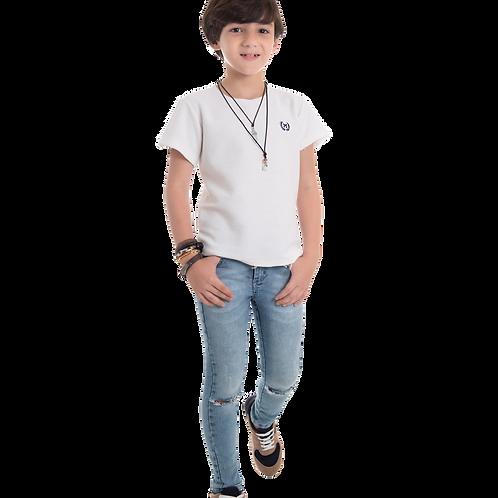 Calça jeans Estiletada Joelho