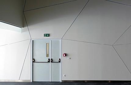 Dvoukřídlé bezfalcové akustické dveře