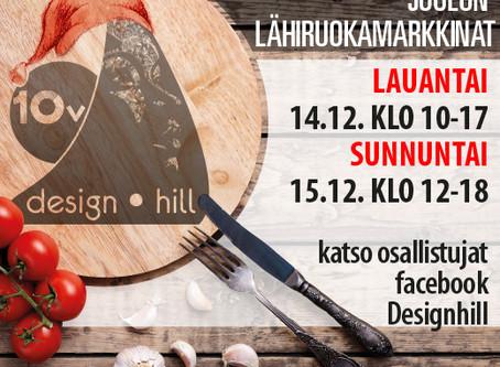 Lähiruokamarkkinat Design Hill:ssä 14.-15.12.2019.