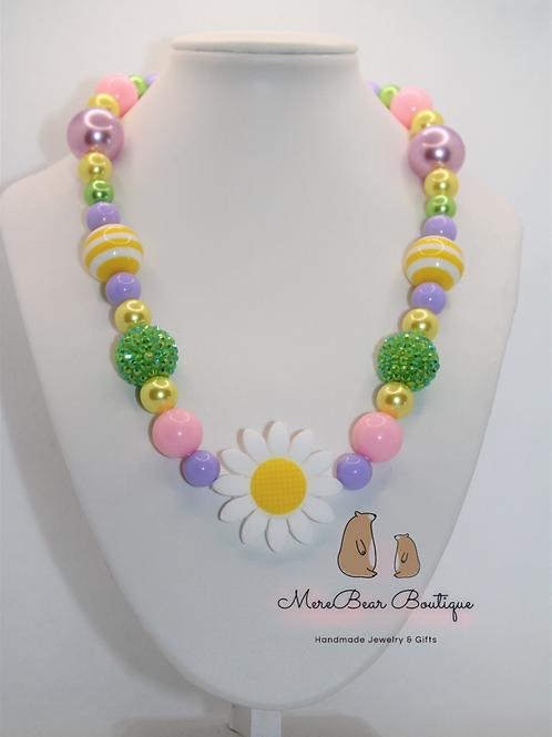 Daisy Bubblegum Bead Necklace