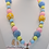 Thumbnail: Blue & Yellow Unicorn Bubblegum Bead Necklace