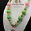 Thumbnail: St Patrick's Day Bubblegum Bead Rainbow Charm Necklace