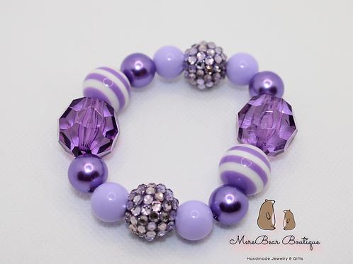 Purple Bubblegum Bead Bracelet