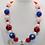Thumbnail: America The Beautiful Bubblegum Bead Necklace